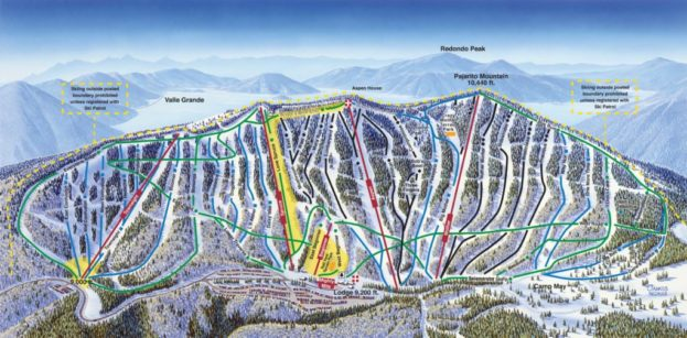 Pajarito Ski Mountain Trail Map