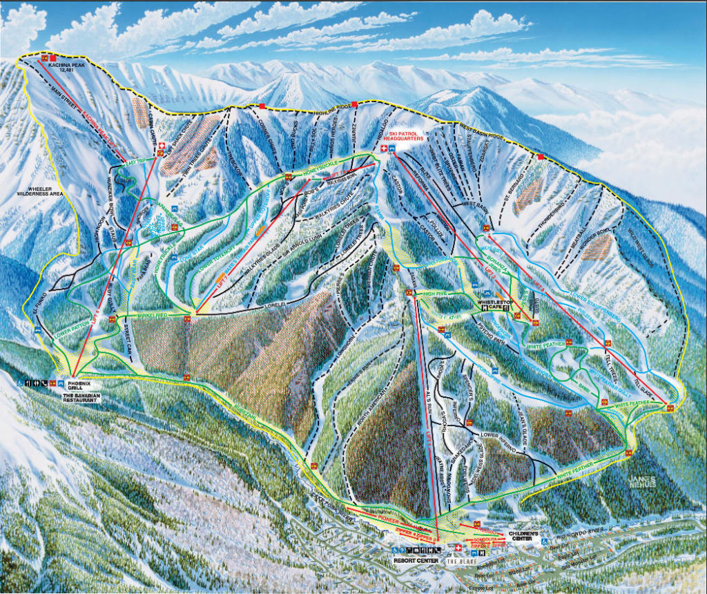 Taos Ski Valley Trail Map 2019