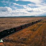 Cumbres & Toltec Narrow Guage Train Returning to Antonito Colorado July 16, 2020