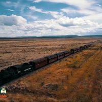 Cumbres & Toltec Narrow Guage Train Returning to Antonito Colorado July 16, 2020